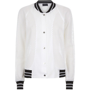 White mesh bomber jacket, $291 from Antipodium