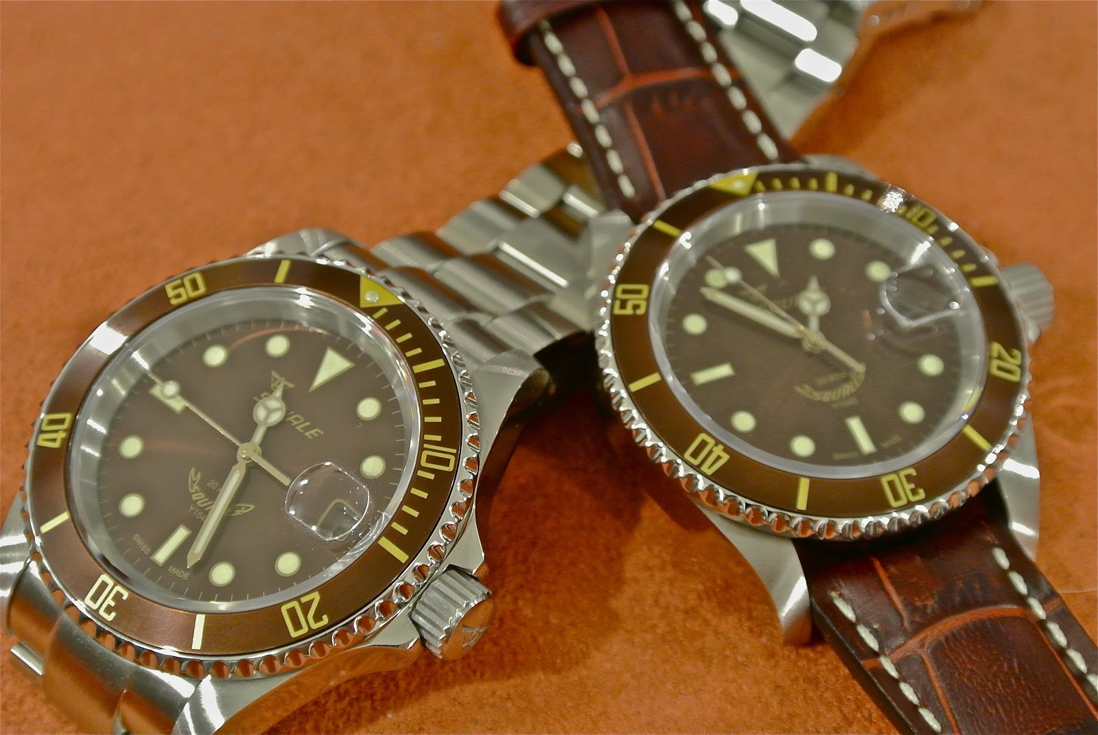 the rogue review my brown shark squale 20 atmos root beer 1545