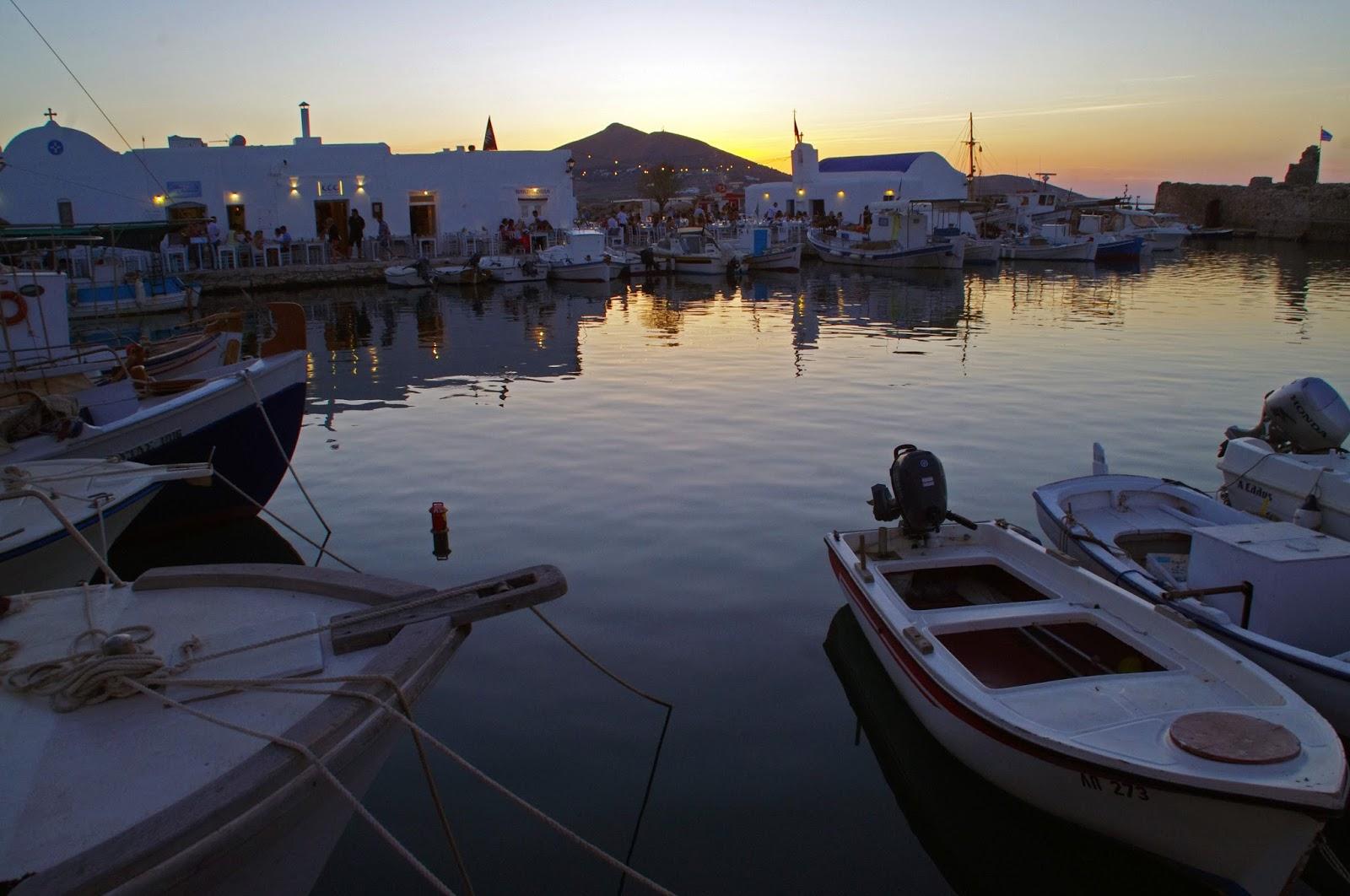 Sunset Naoussa Harbour
