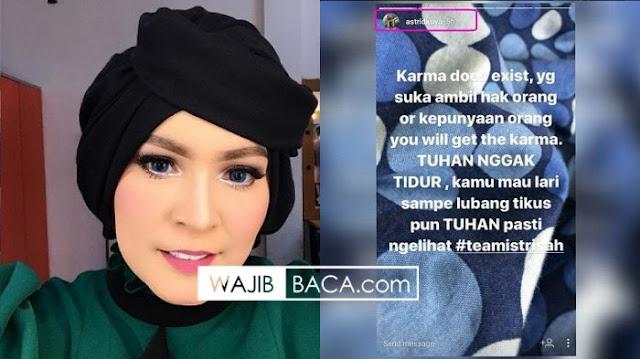 Ngomongin Soal Karma Seseorang Pakai Instastory, Astrid Kuya Malah Dapat Komentar Menohok