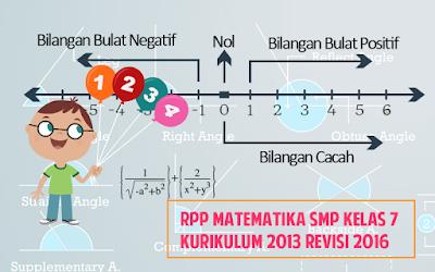 Download RPP Matematika SMP Kelas 7 Kurikulum 2013 Revisi 2016