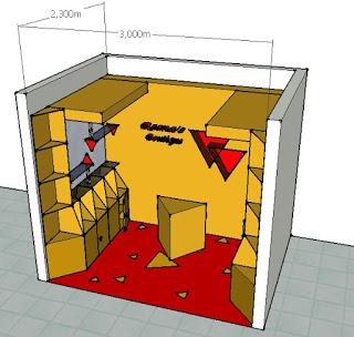 Ukuran ruang dalam stand