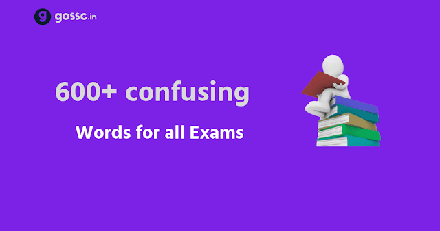 confusing words for SSC