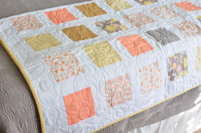 Coral Gray And Mustard Quilt Simple Simon And Company