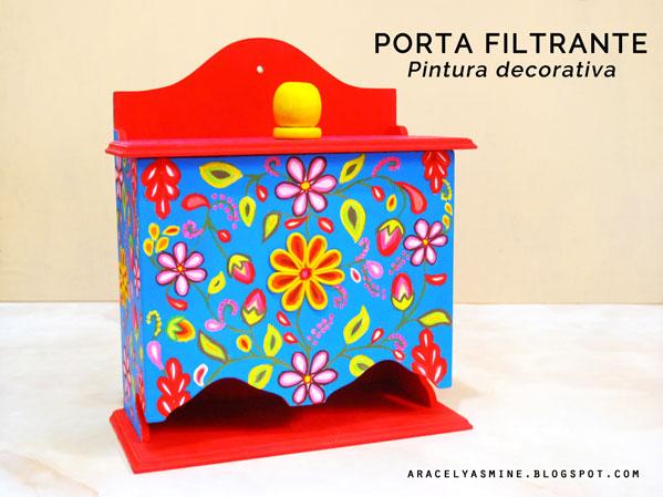 Porta filtrantes decorado con duya y Porcelana fria
