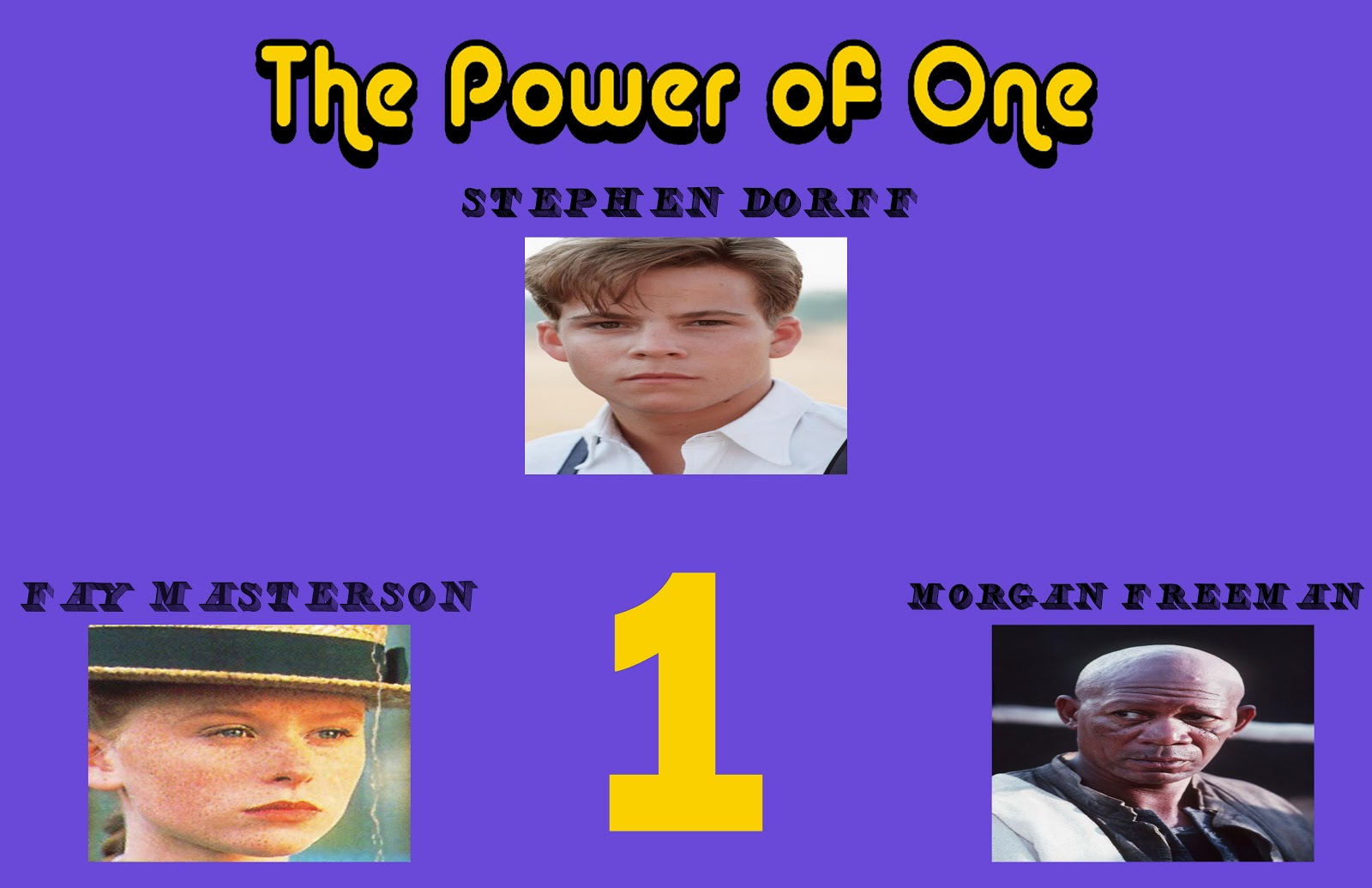 A Blog By Dylan Power Of One Movie Poster