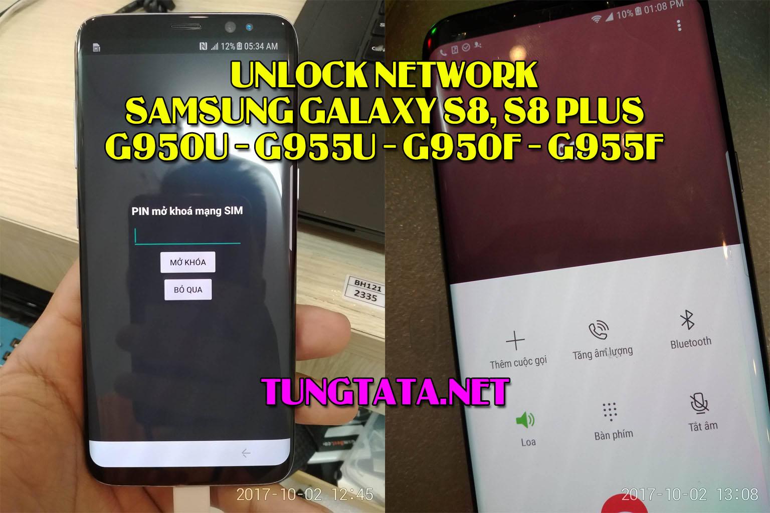 Unlock Samsung Galaxy S8, S8 Plus G950F G955F G950U G955U