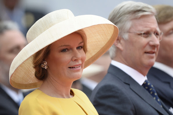 King Willem-Alexander and Queen Maxima of The Netherlands, King Philippe and Queen Mathilde of Belgium, Grand Duke Henri and Grand Duchess Maria Teresa of Luxembourg and Prince Edward of Kent