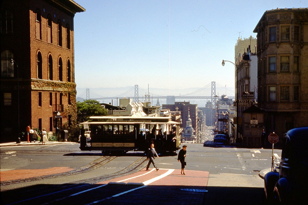 abakusplace  color photographs of streets of san francisco in the 1950s