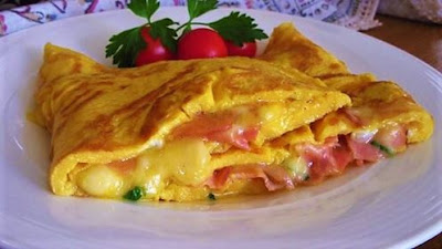 Omlet - šunka/sir //  The  perfect ham and cheese omelette