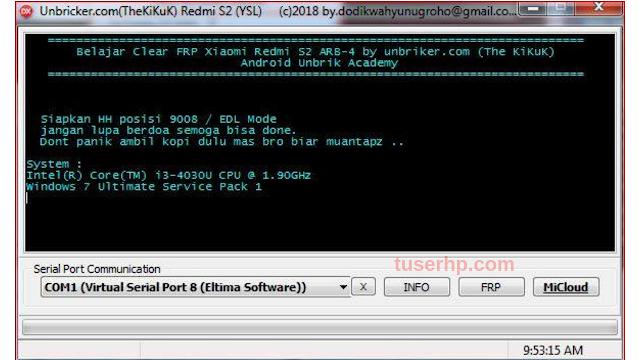 Remove MiCloud Redmi S2-YSL