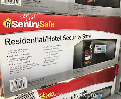 Deter would-be theives with the SentrySafe Residential/Hotel Security Safe (CA110ES)