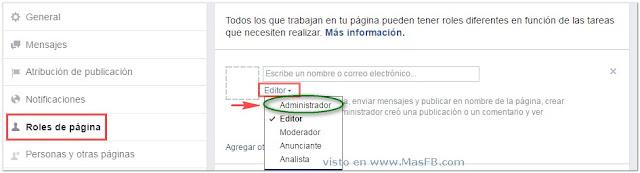 Agregar admin a Facebook Pagina - MasFB