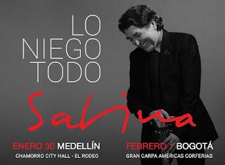 JOAQUIN SABINA Tour Lo Niega Todo en Colombia