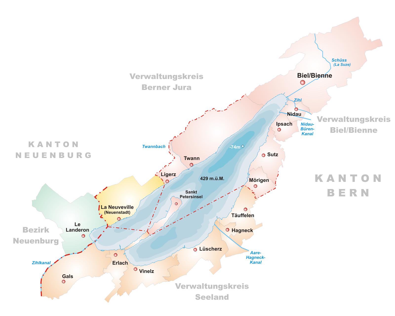 Le Chameau Bleu - Carte de Bienne Voyage en Suisse