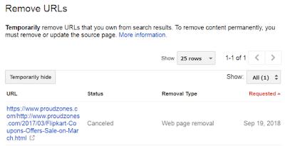 undo url removal request