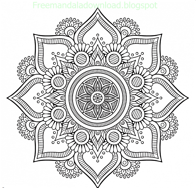 Floral background design Free Malvorlagen - Free Mandala
