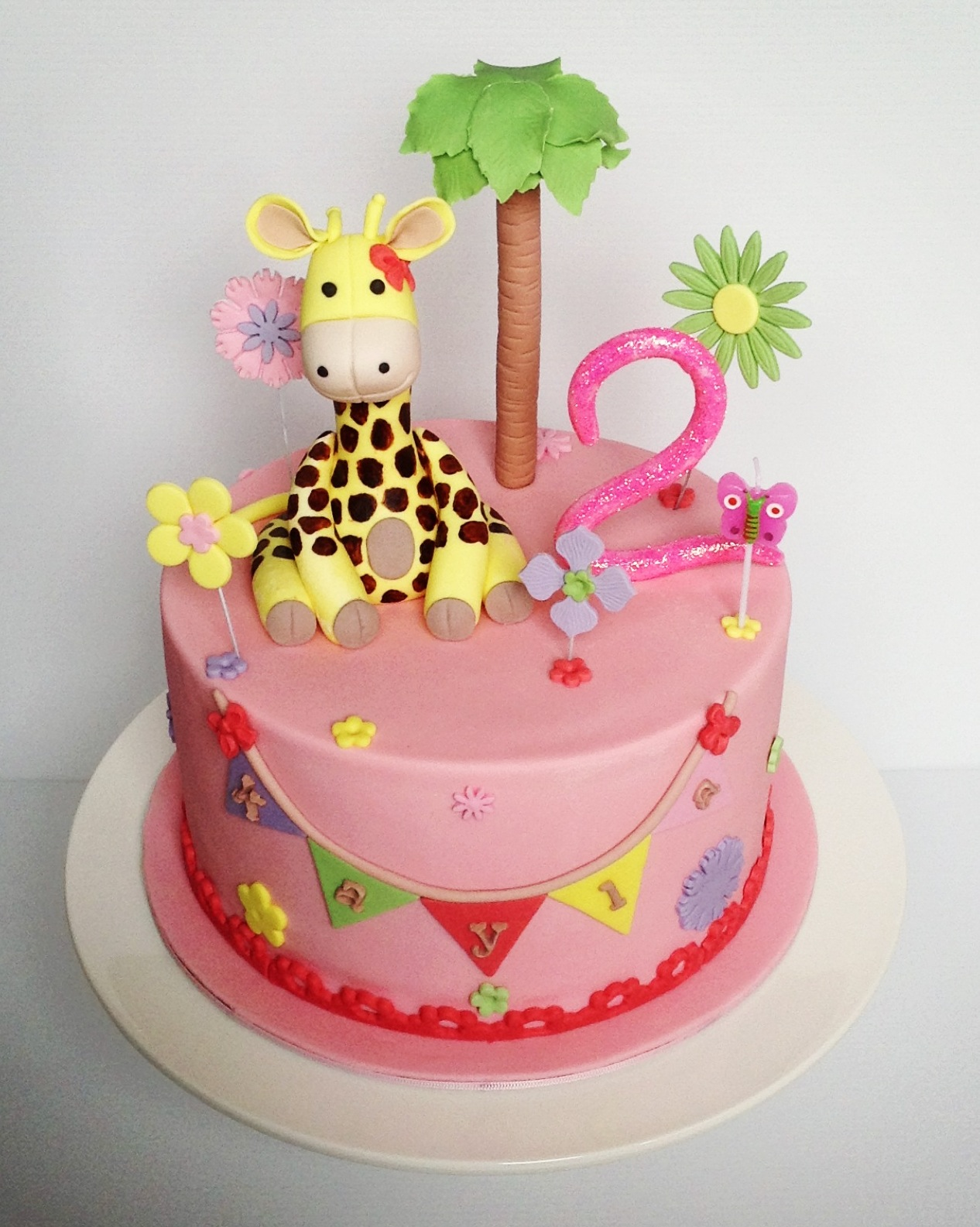 Heavenly Dlights Girly Giraffe Birthday Cake for Kayla