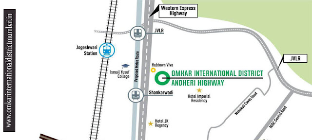 Omkar International District Location Map