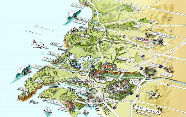 Mapa de San Diego