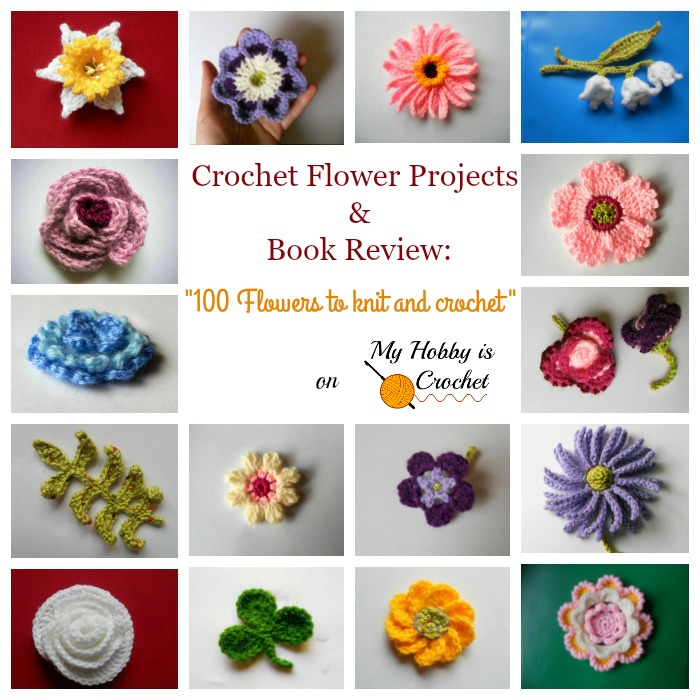 "Crochet Flower Projects and Book Review: ""100 Flowers to Knit and Crochet"" by Lesley Stanfield"