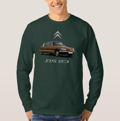 CItroën DS t-shirt brown with black top