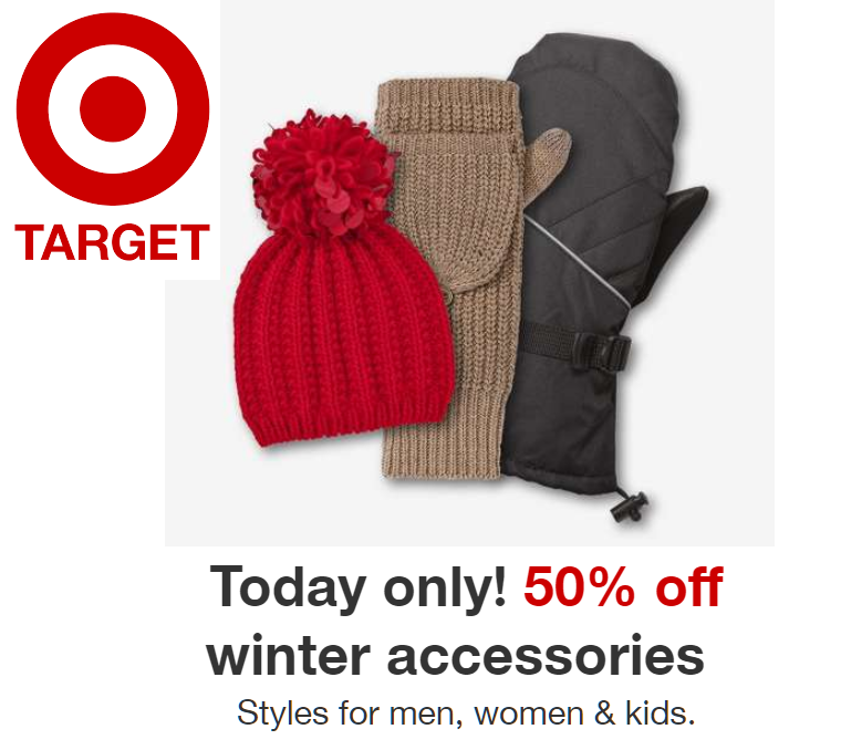 cf68bdaddb8 50% Off All Winter Accessories on Target Today for Men