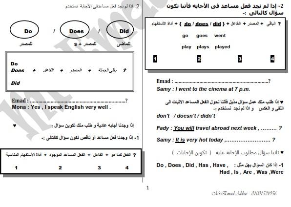 حمل اقوى مراجعة فى اللغة الانجليزية للصف الاول الثانوى الترم الاول مستر عماد عباس