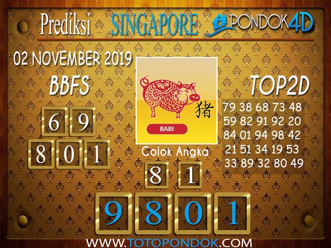 Prediksi Togel SINGAPORE PONDOK4D 02 NOVEMBER 2019
