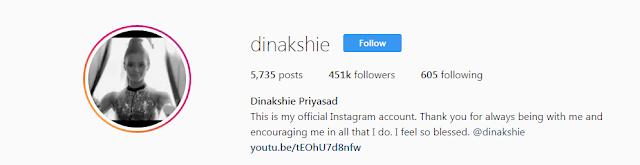 Dinakshie Priyasad Instagram