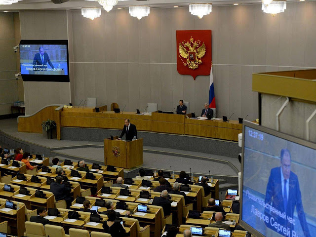 Russia set to ban US news organisations from covering parliament in blow for press freedoms