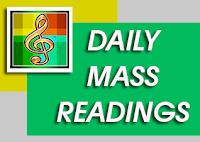DAILY MASS READINGS   MAY 5, 2016