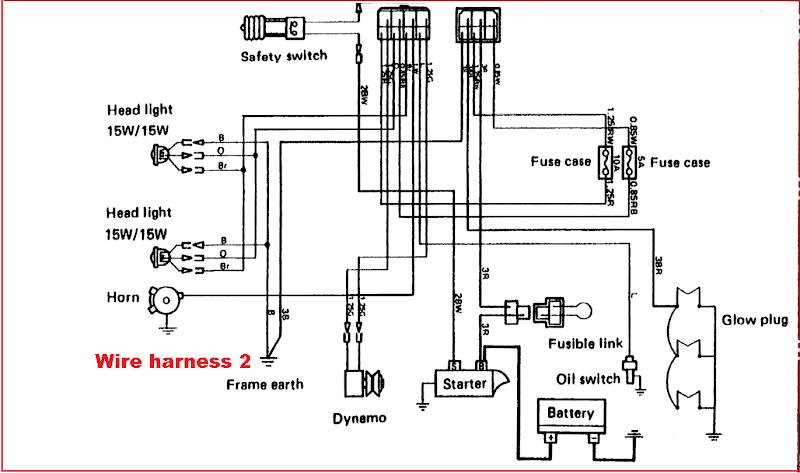 TECHNIC AUTO CAR: วงจรไฟฟ้ารถไถคูโบต้า