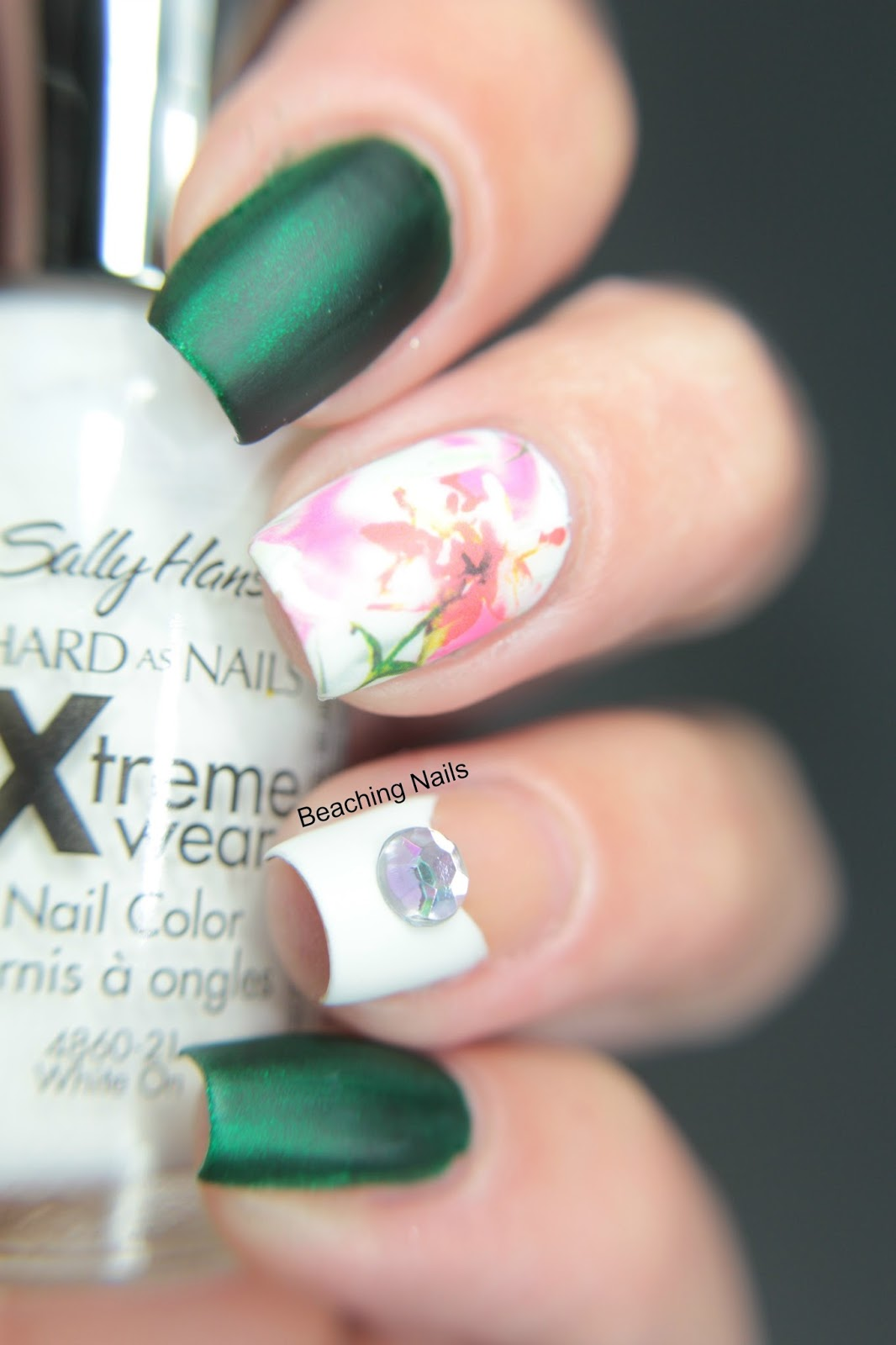 Surfer Girl aka Beaching Nails: Floral Water Decal Mani with a ...