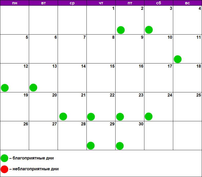 Лунный календарь массажа ноябрь 2018