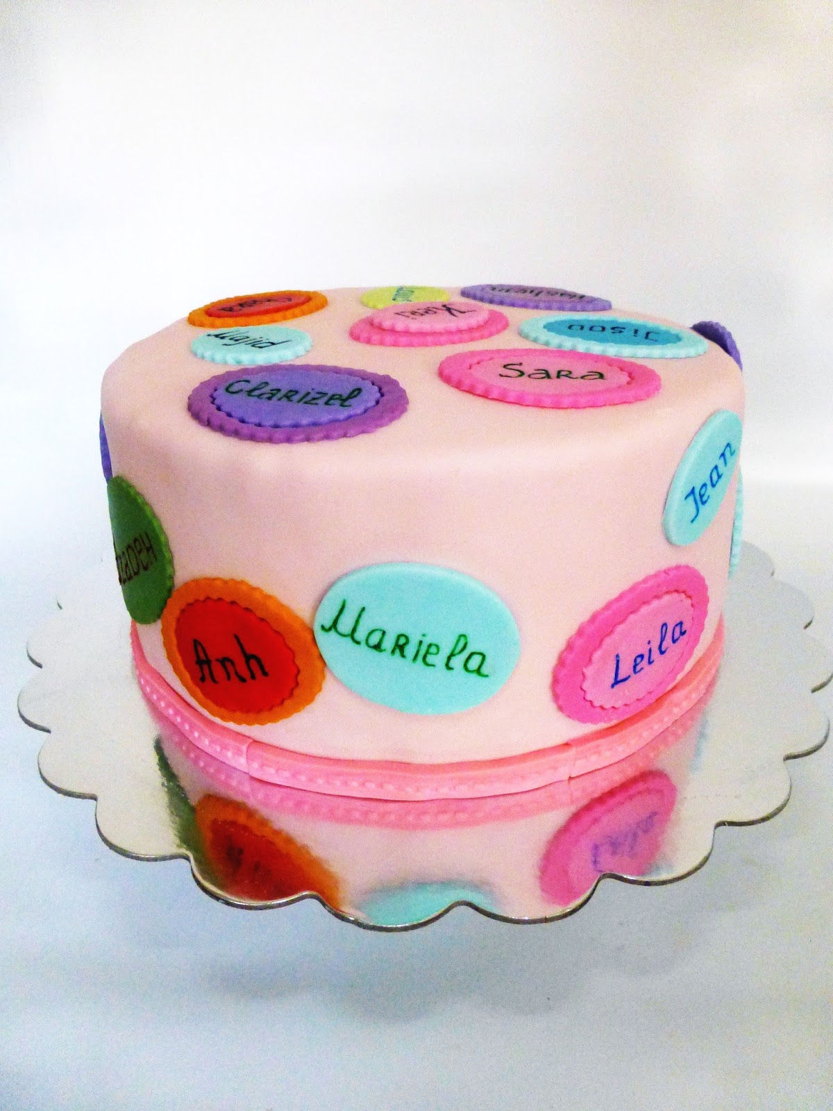 Cake Images With Name Gunjan : CakeSophia: Colorful cake with names
