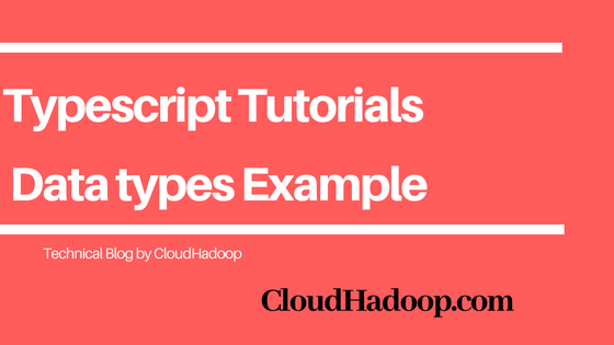 typescript data types - Strings, Enums