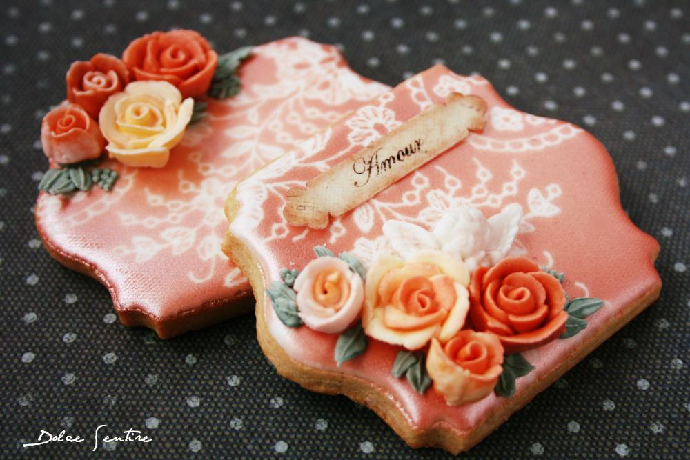 Galletas románticas con encaje (aerógrafo) {Foto Tutorial}