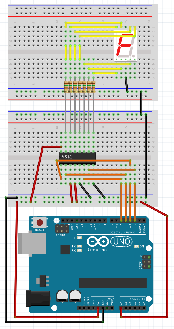 The Arduino Segment: 4511 BCD to 7 segment decoder  7