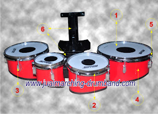 SPEC TRIO TOM DAN KUARTOM PAKET DRUM BAND