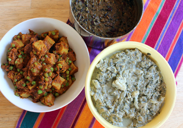 Vegan Richa, Dal Makhani, Chickpea Tofu, Cauliflower