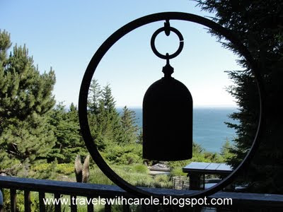 ocean view from grounds of WildSpring Guest Habitat in Port Orford, Oregon