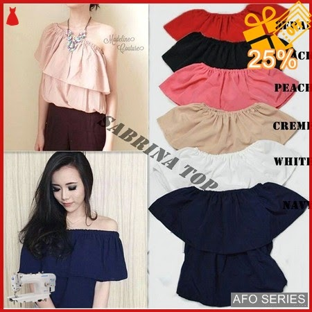 AFO033 Model Fashion Sabrina Top Modis Murah BMGShop