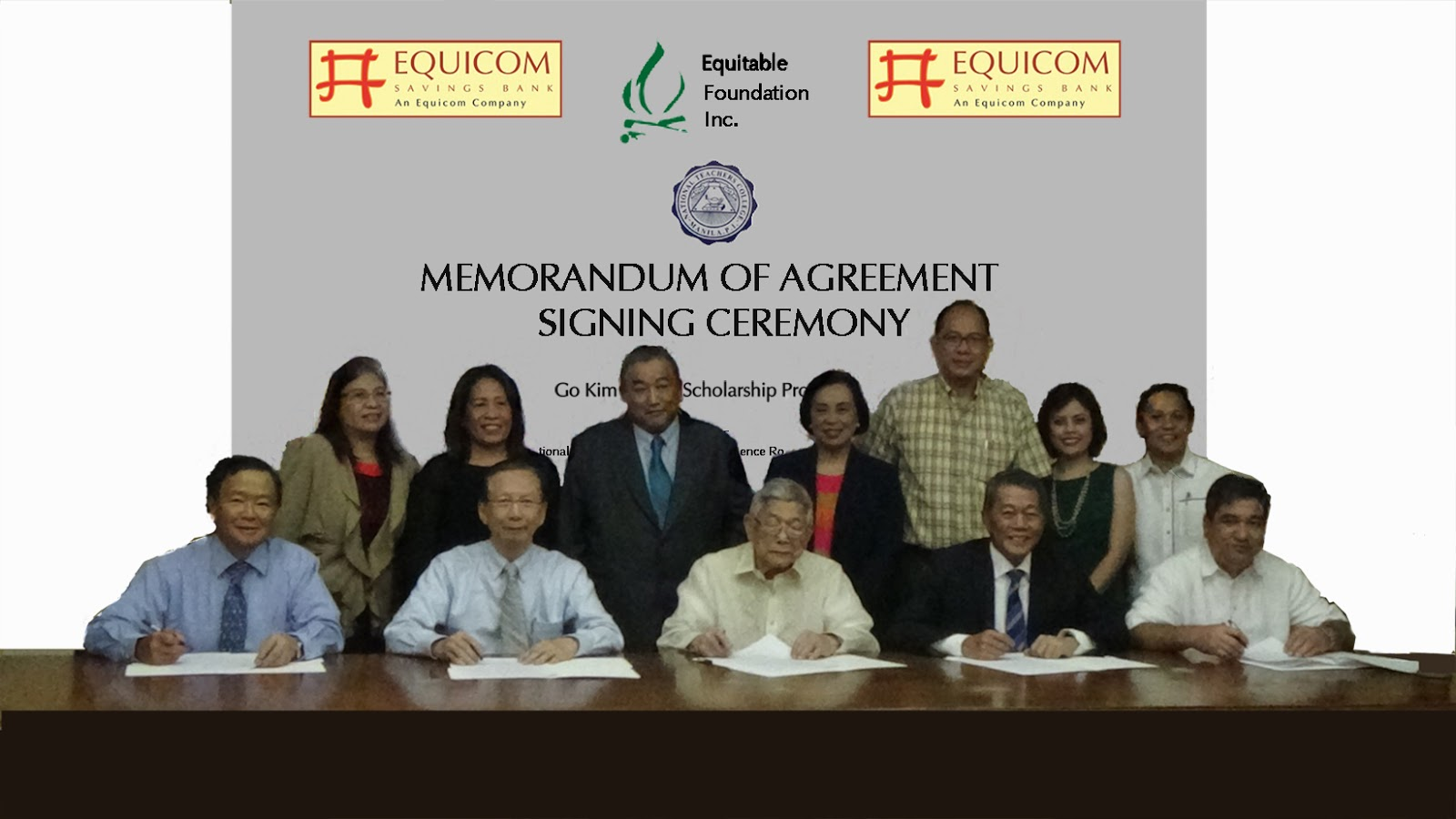 Equicom Group, Equicom Savings Bank and NTC MOA Signing