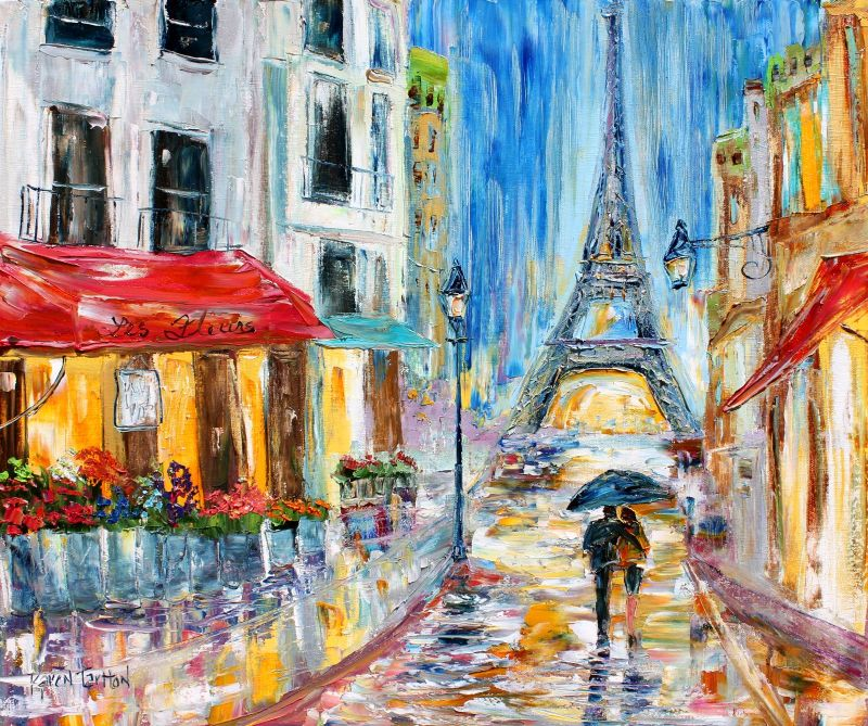 Impressionism Paris: Karen Tarlton: Original Oil Painting Paris Eiffel Tower
