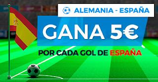 Paston promocion 5 euros por gol que marque españa 23 marzo