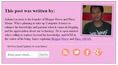 Author Bio Box Widget Generator For Blogger/Blog