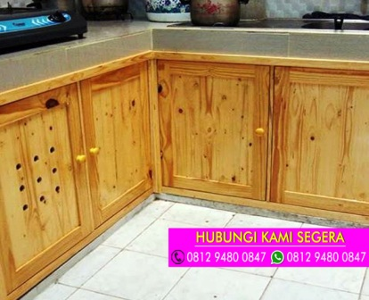 Jasa Pembuatan Kitchen Set Jati Belanda Di Jakarta 0812 9480 0847