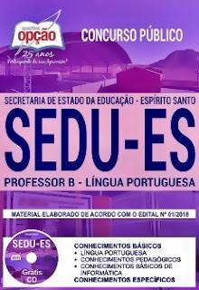 Apostila Concurso SEDU 2018 Professor de Língua Portuguesa