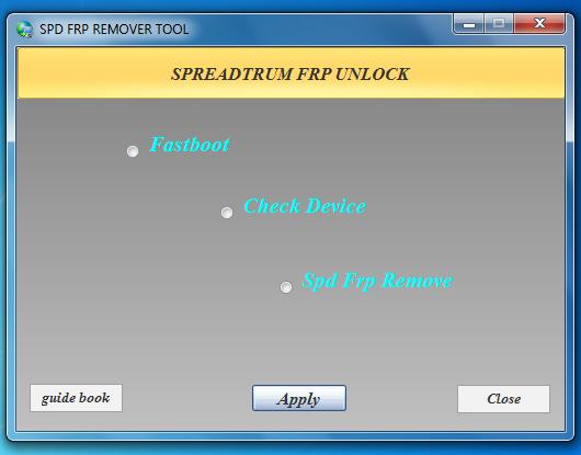Technical Error Gsm: SPD FRP Remover Tool